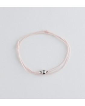 cordon argenté light pink