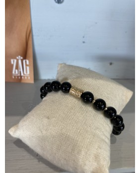 bracelet zag noir